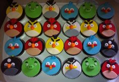 angry bird cakes images | Angry Birds Cup Cakes For Gaming Geeks