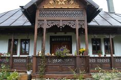Cheap Houses For Sale, Gazebo, Pergola, Wooden Terrace, Balcony Design, Design Case, Log Homes, Traditional House, Rustic Style