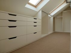 ikea walk in wardrobe sloped roof - Google Search