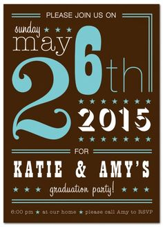 Celebrate in Style - Graduation Announcement from www.papersnaps.com    http://www.papersnaps.com/announcements/graduation-announcements/high-school-and-college-graduation-announcements/celebrate-in-style-graduation-announcement.html    #GraduationPartyInvite