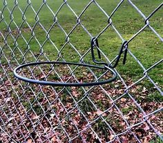 Planter holders for chain link fence-LOVE