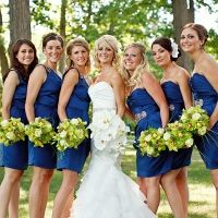 white, blue, & green wedding-clean simple and vibrant colors