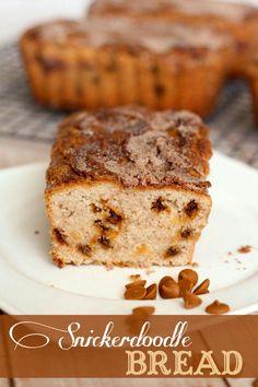 The BEST bread recipe ever! Snickerdoodle Bread filled with cinnamon and sugar goodness. { lilluna.com } #snickerdoodlebread