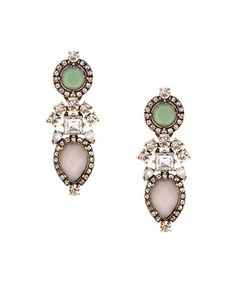 Burnished Gold & Pastel Crystal Drop Earrings on sale $19.99 Reg. $91.00 by Olivia Welles Jewelry