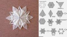 Resultado de imagen de estrella de papel paso a paso