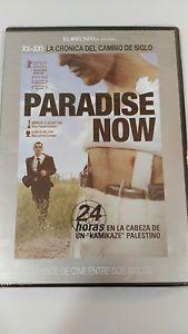 """Paradise now (DVD) : 24 horas en la cabeza de un """"kamikaze"""" palestino / dir. Hany Abu-Assad.    Cameo Media, 2009.    Khaled e Said son dous mozos palestinos, amigos desde a infancia, aos que reclutan para levar a cabo un atentado suicida en Tel Aviv. Logo dunha última noite coas súas respectivas familias, parten cara á fronteira con explosivos pegados ao corpo. Con todo, nada sae como estaba previsto e unha serie de contratempos obrígalles a separarse [...] Tel Aviv, Cabo, Paradise, Sayings, Books, Infancy, Libros, Lyrics, Book"""