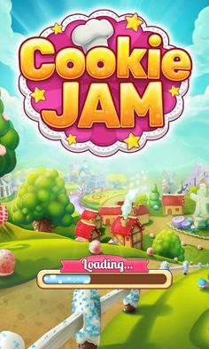 Cookie Jam Welcom Screen - Splash Screen - Match 3 Game - iOS Game - Android Game - UI - Game Interface - Game HUD - Game Art