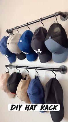 Closet Bedroom, Bedroom Decor, Master Closet, Home Organization Hacks, Bedroom Organization, Organizing, Organizar Closet, Diy Hat Rack, Home Hacks