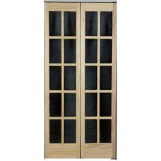 Superior Pinecroft 10 Lite French Solid Core Pine Bifold Closet Door (Common: 80.5