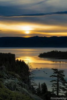 Emerald Bay Sunrise, South Lake Tahoe, CA -- by rootswalker