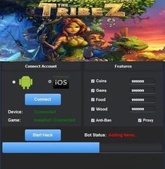 The Tribez Android Hack Cheat http://tooldownload.net/the-tribez-hack-unlimited-coins-gems-food-and-wood/