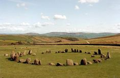 Swinside Stone Circle  3 km from Duddon Bridge, Cumbria, Great Britain. I love such stone circles as they remind me of so-called fairy circles. The tight clustering of small rocks is very interesting.