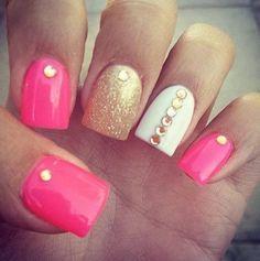 85 Hot Pink Nail Art Designs For Girls