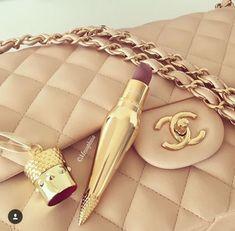 Louboutin lipstick Chanel bag Nudes