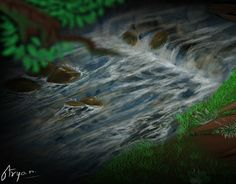 Landscape concept art is based on river flow and dense forest. It's main focus is the water flow and stones. Landscape Concept, New Work, Concept Art, Waterfall, Behance, River, Check, Outdoor, Outdoors