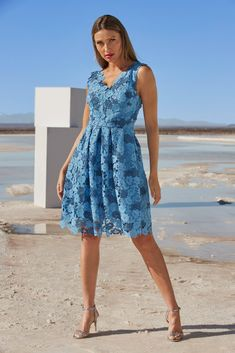 Fit-And-Flare Lace Dress Floral Lace Dress, Boho Dress, One Shoulder Gown, Boston Proper, Boho Look, Elegant Dresses, Flare Dress, Fit And Flare, Dress Outfits