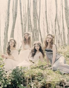 so ethereal and lovely, for an enchanted woodland wedding