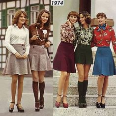 Mini skirts in 1974