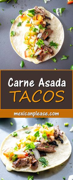 This recipe is designed to get some Carne Asada Tacos in the house -- tonight! Serve them up with some freshly chopped Pico de Gallo and you'll have some happy faces at the dinner table! mexicanplease.com