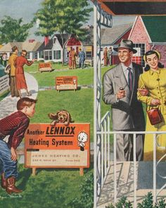 Lennox Heating System in Suburbia - 1950