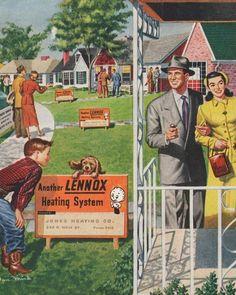 Lennox Heating System in Suburbia - 1950