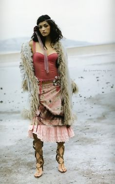 ♥ Boho Hippie Gypsy... but the shirt is just hideous lol  Love everything else, though.