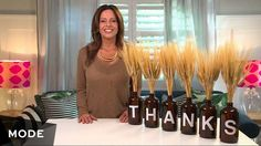 Show your gratitude this season with a Thanksgiving DIY. Dina Manzo has an easy project that will turn your everyday tablescape into an inspired, bespoke ode to fall's favorite holiday.