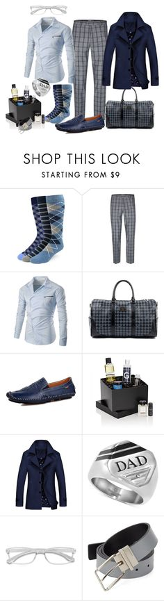 """""""Zaddy #fathersday"""" by missactive-xtraordinary ❤ liked on Polyvore featuring The Tie Bar, Topman, Versace 19•69, Beauty Box, Calvin Klein, men's fashion and menswear"""