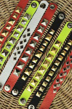 How to make leather stud bracelets! abeautifulmess.com