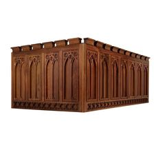 Custom Gothic Revival Kitchen Cabinets