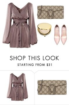 """""""soft"""" by bahrainimermaid ❤ liked on Polyvore featuring Gucci and Estée Lauder"""