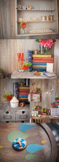 griottes.fr- me encanta la mesita pintada con gotas de colores