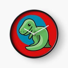 'Cute dinosaur ' Clock by pixelpixelpixel Cute Dinosaur, Clocks, My Arts, Art Prints, Printed, Awesome, Artist, Shop, Design