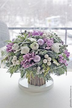 Make-Up Art Weihnachten - Gif Life Purple Christmas, Christmas Flowers, Winter Flowers, Christmas Time, Christmas Wreaths, Christmas Crafts, Advent Wreaths, Christmas Tables, Nordic Christmas