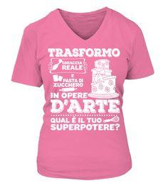 T shirt  Sono una cake designer!  fashion trend 2018 #tshirt, #tshirtfashion, #fashion