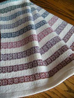 Woven Organic Cotlin Towel Handwoven Hand by ThistleRoseWeaving