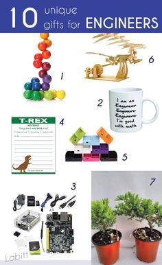 Creative and unique gifts to blow the engineers mind away. National Engineers Week ideas. Gifts for engineers and engineering students.
