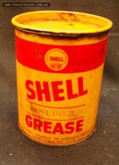 Lot 377 - Vintage SHELL 1lb Unedo grease tin