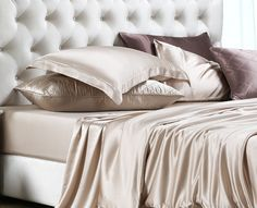 Silk Bedsheets In Black