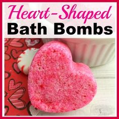 These cute DIY heart-shaped bath bombs would make lovely gifts for Christmas, Valentine's Day, or Mother's Day! And they're so easy to make!
