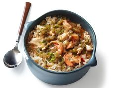 When fall arrives in Louisiana, the gumbo pots come out. Food Network Magazine asked the champs of New Iberia's annual cook-off for their recipes. Okra Gumbo, Seafood Gumbo Recipe Okra, Paella Recipe, Seafood Dishes, Seafood Recipes, Gumbo Recipes, Shellfish Recipes, Food Network Recipes, Cooking Recipes
