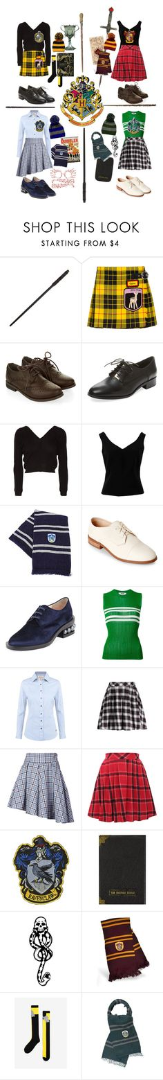 """""""Welcome to Hogwarts School of Witchcraft and Wizardry!"""" by mxgvi on Polyvore featuring Miu Miu, Monsoon, Pure Navy, Ballet Beautiful, ADAM, Nine West, Nicholas Kirkwood, MSGM, DUBARRY and Petersyn"""
