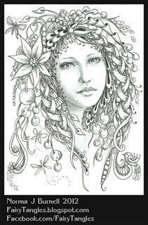 fairy tangles coloring page