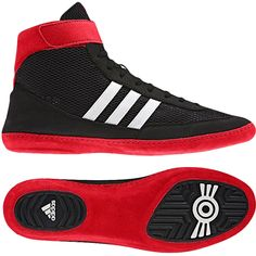 9a17efe2bf4 June 2013 adidas Combat Speed 4 Wrestling Shoes - Black Running  White Collegiate Red