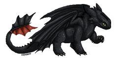 Toothless pixel 'sticker' by DodoIcons.deviantart.com on @deviantART