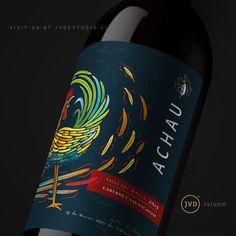 Achau Wine by @jvd_estudio  2017 #chileanwine #añodelgallo #chileandesign #jvdestudio #winelabel #winelabel