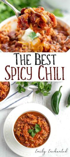 The best spicy chili recipe weight watchers chili chili weightwatchers spicy spicy chili The Best Spicy Chili Recipe, Beef Chili Recipe, Chilli Recipes, Bean Recipes, Crockpot Recipes, Soup Recipes, Dinner Recipes, Cooking Recipes, Healthy Recipes