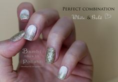 Nail art: Skitlette with OPI My Favorite Ornament & OPI Alpine Snow