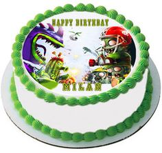 PLANTS vs ZOMBIES 2 Edible Birthday Cake Topper OR Cupcake Topper