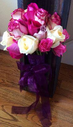 Rose wedding bouquet from Barrington Hill Design